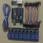 ชุดควบคุมไฟฟ้าผ่าน LAN + Arduino Uno R3 + USB + RELAY8 + สายจั้ม