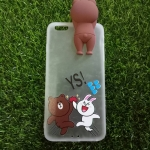 Tpu หมีน้ำตาลเกาะหลังหมีกระโดด (มีไฟ) iPhone6 Plus/6s Plus