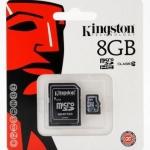 Micro SD Kington 8GB Class10