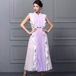 DR_8729 (pre-order) เดรสหวานๆ ม่วงพาสเทล สไตล์ Fiary พร้อมเข็มขัด, Aug, 2016, Dress, Purple, S-M-L-XL, ~1500-1999