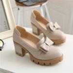 SH_1286 (pre-order), รองเท้าหนังแฟชั่นเชิงสุขภาพ, Mar, 2016, Shoes, Grey-Beige-Black, 6.5cm, ~1000-1999
