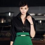 BL_4770 , เสื้อเชิ๊ตทำงาน Sexy Black Shirt , Working Women , Nov , 2015 , S-M-L , ~1000-1999