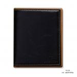 กระเป๋าสตางค์ผู้ชาย ทรงตั้ง HUAWAN - สีดำ