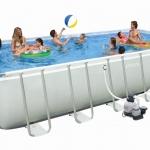 สระว่ายน้ำสำเร็จรูป Intex Ultra Frame แบบเหลี่ยม 24 ฟุต + อุปกรณ์ครบชุด + ส่งฟรี