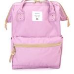 กระเป๋า Anello ขนาด mini สีม่วงอ่อน Lavender ของแท้ นำเข้าจากญี่ปุ่น พร้อมส่ง