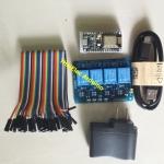 ชุดยอดนิยม ชุดควบคุมไฟฟ้าผ่านเน็ต NodeMcu v2 + สายจั้ม +Relay 4 Out + Micro Usb + Adapter 5V 0.5A