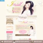 ออกแบบเว็บร้านค้าออนไลน์ สไตล์เกาหลี สีน้ำตาลอ่อน