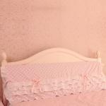 Pre-Order ผ้าคลุมหัวเตียง สีโอรสลายจุด