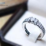 แหวนเงินแท้ เพชรสังเคราะห์ ชุบทองคำขาว รุ่น RG1446 HS mini