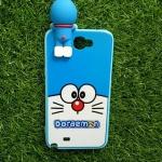TPU ลายเส้นนูนแมวสีฟ้าตาโตเกาะหลัง Note2