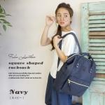 กระเป๋า Anello แบบหนัง PU ขนาดเล็ก mini สีน้ำเงิน Navy ของแท้ นำเข้าจากญี่ปุ่น พร้อมส่ง