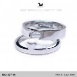 แหวนเงินแท้ เพชรสังเคราะห์ ชุบทองคำขาว รุ่น RG1627-28 Beter Half