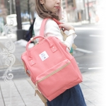 กระเป๋า Anello ขนาดปกติ Standard สีชมพูอ่อนอมส้ม Coral Pink ของแท้ นำเข้าจากญี่ปุ่น พร้อมส่ง