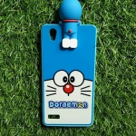 TPU ลายเส้นนูนแมวสีฟ้าตาโตเกาะหลัง Oppo Mirror5