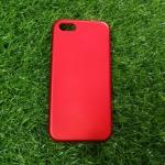 TPU Red (ไม่โชว์โลโก้)iphone5/5s/se