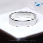 แหวนเงินแท้ เพชรสังเคราะห์ ชุบทองคำขาว รุ่น RG1479 Love is B