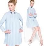 DR_8391, ชุดเดรสไซส์ใหญ่-เดรสคลุมท้อง XL-4XL , Working Dress, March, 2016, Blue, ~2000-2999