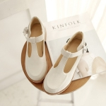 SH_1284 (pre-order), รองเท้าหนังส้นสูงเชิงสุขภาพ, Mar, 2016, Shoes, White-Black-Brown, Size 34-39, 4cm ~900