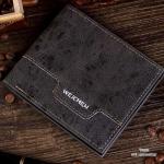 กระเป๋าสตางค์ผู้ชาย ทรงสั้น Weichen - สีดำ