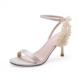 SH_1697 (pre-order) รองเท้าทำงาน-รองเท้าออกงาน หวานๆสีทองอ่อน แบรนด์ Exull สูง 8cm, 2018, Shoes, Light GoldBeige, Size 34-39