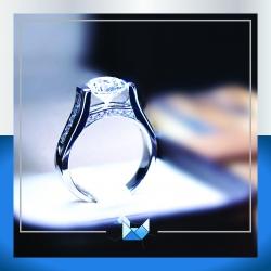 แหวนเงินแท้ เพชรสังเคราะห์ ชุบทองคำขาว รุ่น RG1554 Dimond GATE Elegant