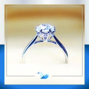 แหวนเงินแท้ เพชรสังเคราะห์ ชุบทองคำขาว รุ่น RG1560 1.25 carat Crown