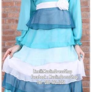 ☆ ✧ Colourful Layered Chiffon Dress✧ ☆Light Blue