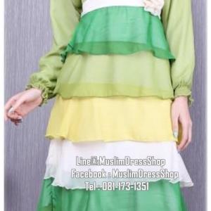 ☆ ✧ Colourful Layered Chiffon Dress✧ ☆Light Green