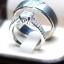แหวนคู่รักเงินแท้ เพชรสังเคราะห์ ชุบทองคำขาว รุ่น LV15071516 Tollway Thunder & 5mm Square Elegrant thumbnail 2