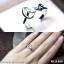 แหวนเงินแท้ เพชรสังเคราะห์ ชุบทองคำขาว รุ่น RG1466 Love thumbnail 3