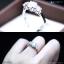 แหวนเงินแท้ เพชรสังเคราะห์ ชุบทองคำขาว รุ่น RG1415 Two Step G thumbnail 3