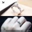 แหวนเงินแท้ เพชรสังเคราะห์ ชุบทองคำขาว รุ่น RG1606 0.60 carat Cute Twist thumbnail 1