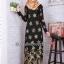 ชุดเดรสมุสลิมแฟชั่นพร้อมผ้าพันแสนสวย ✧☆ Metallic A-Line Dresses ☆ ✧ Gold