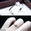 แหวนเงินแท้ เพชรสังเคราะห์ ชุบทองคำขาว รุ่น RG1459 4mm Square thumbnail 3