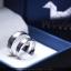 แหวนคู่รักเงินแท้ เพชรสังเคราะห์ ชุบทองคำขาว รุ่น LV16291630 Tollway plain B&G thumbnail 1