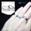 แหวนคู่รักเงินแท้ เพชรสังเคราะห์ ชุบทองคำขาว รุ่น LV15181519 Five Star thumbnail 4
