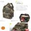 กระเป๋า Anello ขนาด mini สี Camo ลายทหารสีเข้ม ของแท้ นำเข้าจากญี่ปุ่น พร้อมส่ง thumbnail 7