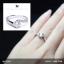 แหวนเงินแท้ เพชรสังเคราะห์ ชุบทองคำขาว รุ่น RG1561 0.60 carat Dazzling thumbnail 5