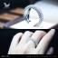 แหวนเงินแท้ เพชรสังเคราะห์ ชุบทองคำขาว รุ่น RG1548 Grand Eternity Elegran thumbnail 4
