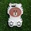 ซิลิโคนหมีน้ำตาลใส่เสื้อสีขาว iphone7 plus/iphone8 plus(ใช้เคสตัวเดียวกัน) thumbnail 1