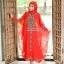 ชุดเดรสชีฟองทรงค้างคาวพร้อมชุดอินเนอร์ RED