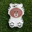 ซิลิโคนหมีน้ำตาลใส่เสื้อ iphone6/6s thumbnail 2