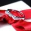 แหวนเงินแท้ เพชรสังเคราะห์ ชุบทองคำขาว รุ่น RG1322 MoongMing Bow thumbnail 2