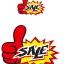 0110 S ป้ายระเบิด มือโป้ง SALE Size S (บรรจุ 10 แผ่น ต่อ 1 ห่อ) thumbnail 2