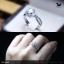 แหวนเงินแท้ เพชรสังเคราะห์ ชุบทองคำขาว รุ่น RG1608 0.80 Maxi frink thumbnail 2