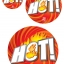 52003 S ป้ายกลม HOT ไฟ Size S (บรรจุ 10 แผ่น ต่อ 1 ห่อ) thumbnail 2