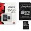 Micro SD Kington 16GB Class4 thumbnail 2