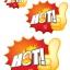 52004 L ป้ายระเบิด HOT ไฟ Size L (บรรจุ 10 แผ่น ต่อ 1 ห่อ) thumbnail 2