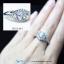 แหวนเงินแท้ เพชรสังเคราะห์ ชุบทองคำขาว รุ่น RG1441 Head&Shoulder Twist thumbnail 3