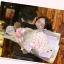 ช่อกุหลาบสีขาวอมชมพู พร้อมหมีคู่รัก thumbnail 5